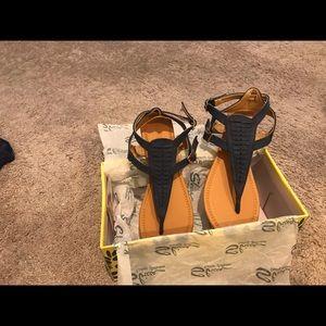 NWT navy flat sandals. Size 8